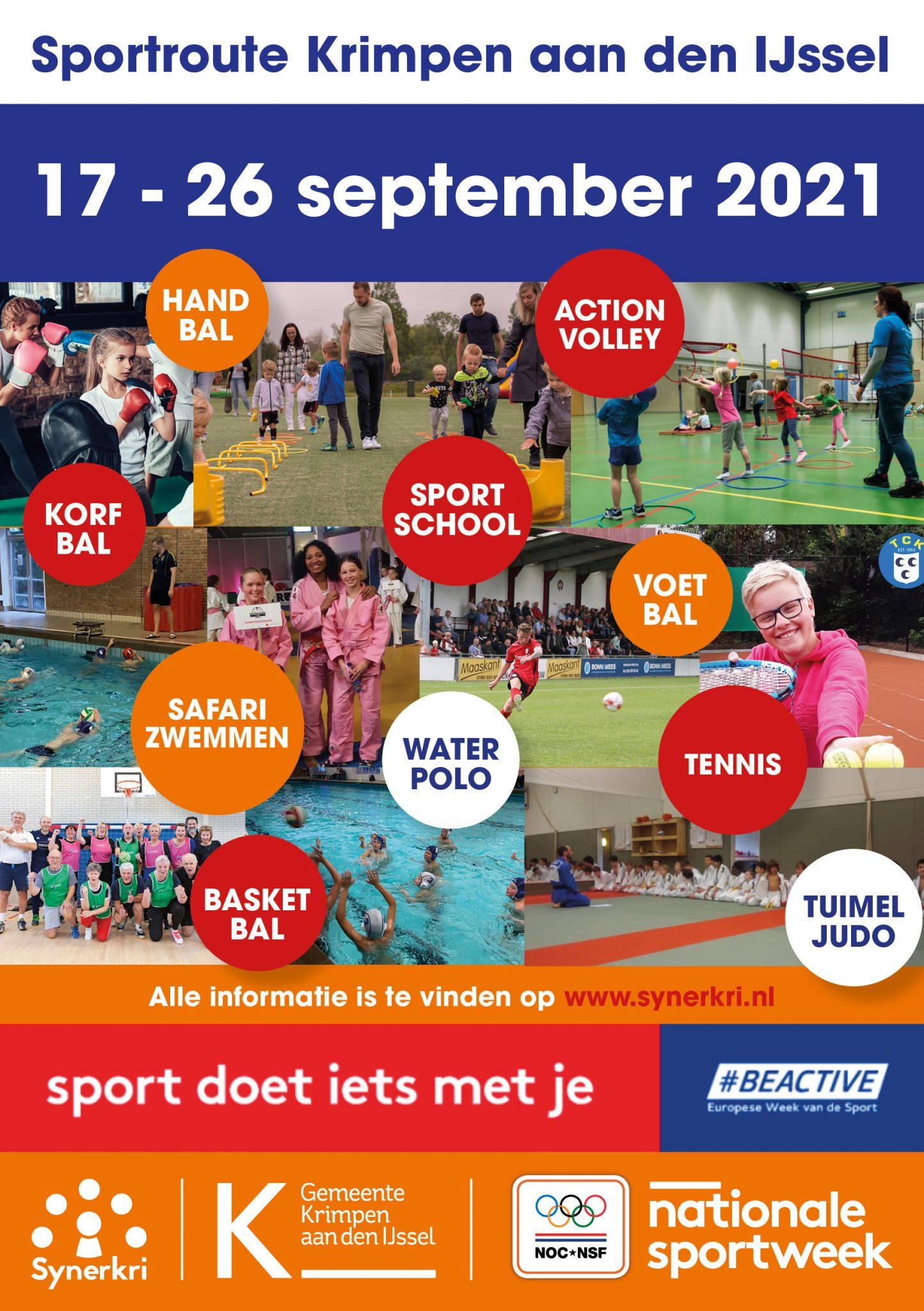 Sportroute Krimpen aan den IJssel (17 tot en met 25 September)